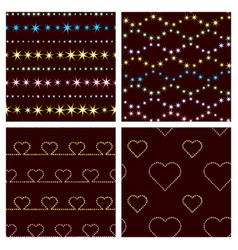 geometric patterns and hearts vector image vector image