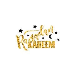 Hand sketched ramadan kareem lettering typography vector