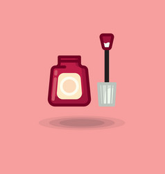 icon of nail polish open bottle of red and vector image vector image