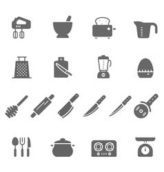 Icon set - kitchenware vector