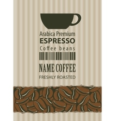 Label for coffee beans vector