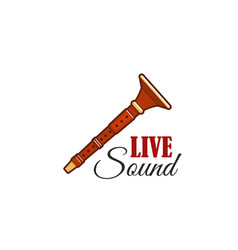 live sound concert festival reed pipe icon vector image vector image