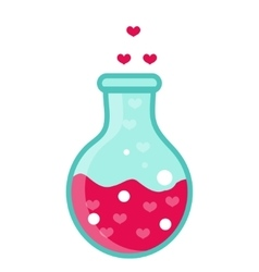 Love potion icon flat design isolated on white vector