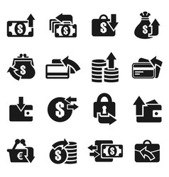 money an icon5 vector image vector image