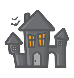 scary house filled outline icon halloween scary vector image vector image
