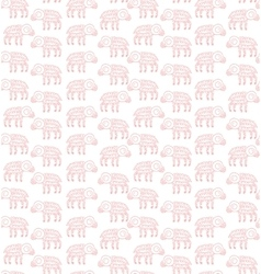 Seamless pattern lamb doodle vector