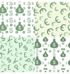 Seamless pattern with money vector image vector image