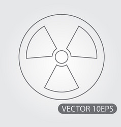 symbol radiation black and white outline drawing vector image