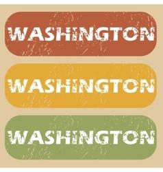 Vintage Washington stamp set vector image