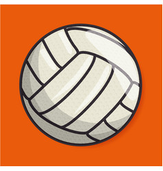 Volleyball sport ball isolated icon vector