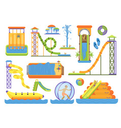 water aquapark playground family vacation funny vector image vector image