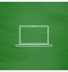 Laptop computer symbol vector image