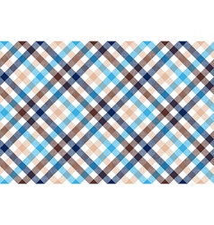 Blue beige diagonal check seamless pattern vector