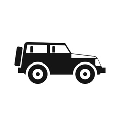 Jeep icon in simple style vector