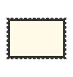 Black postage stamp template vector