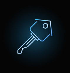 House key colorful outline icon vector