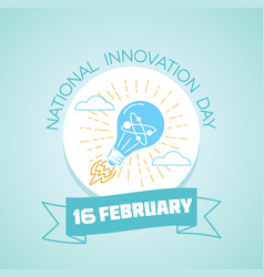 16 february national innovation day vector