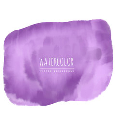 Purple watercolor stain background vector