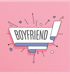 Boyfriend retro design element in pop art style vector