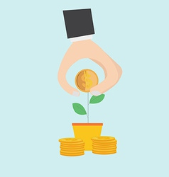Element of financial concept icon in flat design vector image