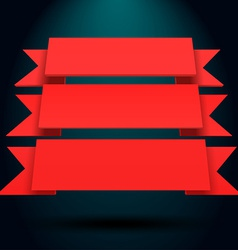 Infographic red 3d blue and red ribbons vector