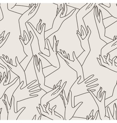 Seamless pattern of graceful female hands vector