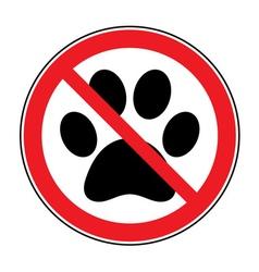 No pets sign vector