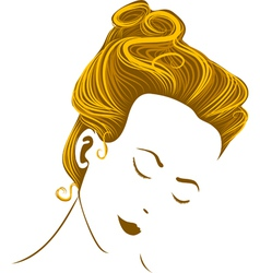 Woman head vector