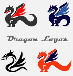 Dragon logos vector