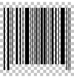 Bar code sign flat style black icon on vector