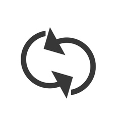 Arrow cycle icon design vector