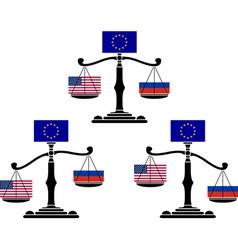 Set of eu scales vector