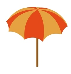 beach umbrella isolated icon design vector image