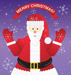 Christmas Greeting Card with Santa Claus vector image vector image