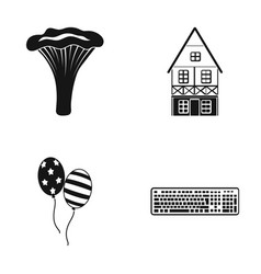 Cooking house and other web icon in black style vector