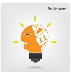Creative light bulb and education or business idea vector image vector image