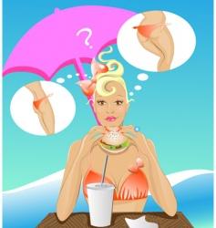 diet girl vector image