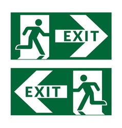 Exit sign green vector