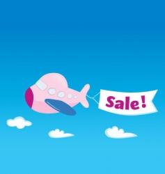 flight sale vector image