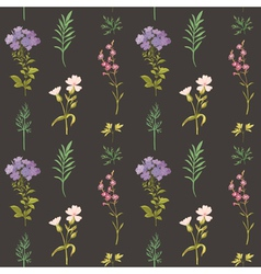 Floral Background - Seamless pattern vector image