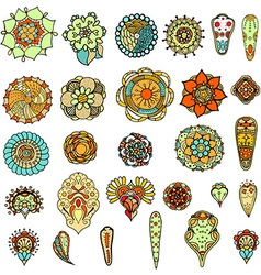 Floral Elements Set vector image vector image
