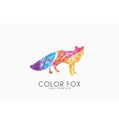 Fox logo color fox design animal logo vector