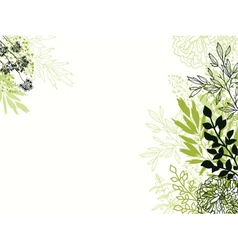 Green and black floral background backdrop vector image