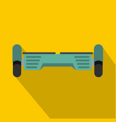 Hover board gyro pod icon flat style vector