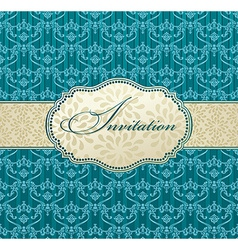 Invitation art frame package label vintage with vector