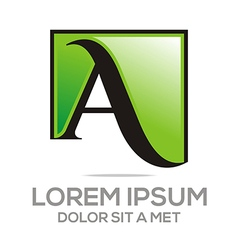 Letter a icon concept business alphabet vector
