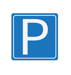 Parking sign white background parking sign vector