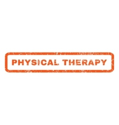 Physical therapy rubber stamp vector