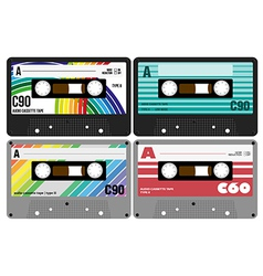 Retro Audio Cassette Tapes vector image vector image