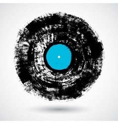 Retro musical grunge vinyl vector image vector image